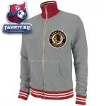 Кофта Чикаго Блэкхокс / Chicago Blackhawks Grey Mitchell & Ness French Terry Vintage Garment Washed Track Jacket