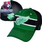 Женская кепка Детройт Ред Уингз / Detroit Red Wings Kelly Green/ Black Doherty Stretch Fit Hat