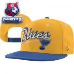 Кепка Сент-Луис Блюз / St. Louis Blues Gold/Royal Blue Shadow Script Snapback Adjustable Hat
