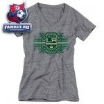 Женская футболка Лос-Анджелес Кингз / Los Angeles Kings Women's Grey Celtic Band Tri-Blend V-Neck T-Shirt