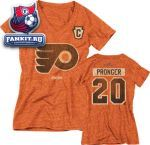 Женская футболка Филадельфия Флайерз / Chris Pronger Philadelphia Flyers Women's Orange CCM 2012 Winter Classic Retro Name and Number Tri-Blend T-Shirt