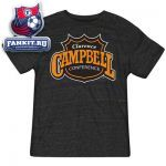 Футболка Коламбус Блю Джекетс / NHL Black Reebok Campbell Conference Logo T-Shirt