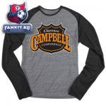 Кофта НХЛ / NHL Grey Reebok Campbell Conference Logo Raglan Long Sleeve T-Shirt