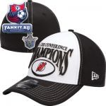 Кепка Нью-Джерси Девилз / New Jersey Devils New Era 39THIRTY NHL 2012 Conference Champions Official Locker Room Hat