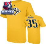 Футболка Нэшвилл Предаторз / Pekka Rinne Gold Reebok Name and Number Nashville Predators T-Shirt