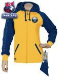 Женская толстовка Баффало Сейбрз / Buffalo Sabres Women's Letterman Full-Zip Fleece Hooded Sweatshirt