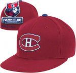 Кепка Монреаль Канадиенс / Montreal Canadiens Red Mitchell & Ness Vintage Basic Logo Fitted Hat