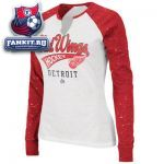 Женская кофта Детройт Ред Уингз / Detroit Red Wings Women's Game Flava Fashion Split Raglan Long Sleeve T-Shirt