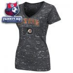 Женская футболка Филадельфия Флайерз / Philadelphia Flyers Women's Charcoal Official Contender Fashion V-Neck T-Shirt