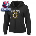 Женская толстовка Бостон Брюинз / Boston Bruins Women's Black Lasting Strength Full-Zip Fleece Hooded Sweatshirt