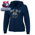 Женская толстовка Баффало Сейбрз / Buffalo Sabres Women's Navy Lasting Strength Full-Zip Fleece Hooded Sweatshirt