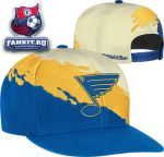 Кепка Сент-Луис Блюз / St. Louis Blues Mitchell & Ness Cream Vintage 'Paintbrush' Snapback Hat
