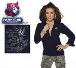 Женская толстовка Баффало Сейбрз / Buffalo Sabres Women's Full Zip Ruffled Hoody - by Alyssa Milano