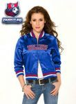 Женская куртка Нью-Йорк Рейнджерс / New York Rangers Women's Classic Satin Baseball Collar Jacket - by Alyssa Milano