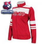Женская куртка Детройт Ред Уингз / Detroit Red Wings Women's Red Full-Zip Striped Track Jacket