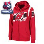 Женская толстовка Нью-Джерси Девилз / New Jersey Devils Women's Red Tremendous Fan Full-Zip Fleece Hooded Sweatshirt