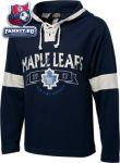 Толстовка Торонто Мейпл Лифс / Toronto Maple Leafs Old Time Hockey Navy Jetted Lightweight Hooded Fleece Sweatshirt