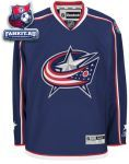 Игровой Свитер Коламбус Блю Джекетс / Columbus Blue Jackets Navy Premier NHL Jersey