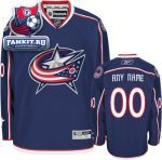 Игровой Свитер Коламбус Блю Джекетс / Columbus Blue Jackets Navy Premier Jersey: Customizable NHL Jersey
