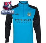 Кофта Манчестер Сити / Manchester City Training 1/2 Zip Fleece - Vivid Blue/Black