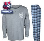 Пижама Манчестер Сити / Manchester City Check Long Pyjama - Grey/Blue