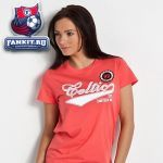 Женская футболка Селтик / Celtic 88 Retro Script Long T-Shirt - Coral -Womens
