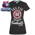 Женская футболка Селтик / Celtic 88 Rosette Graphic Long T-Shirt - Black - Womens