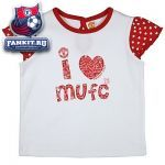 Детская кофта Манчестер Юнайтед / MANCHESTER UNITED I LOVE MUFC FRILL SLEEVE T-SHIRT