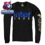 Кофта Интер / Inter black logo ls tee
