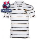Поло Реал Мадрид / Real Madrid Striped Polo - White